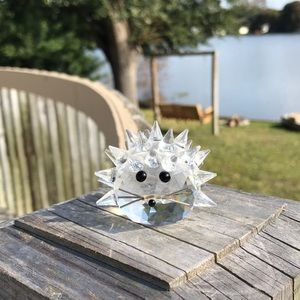 Vintage-retired Swarovski Crystal Hedgehog.